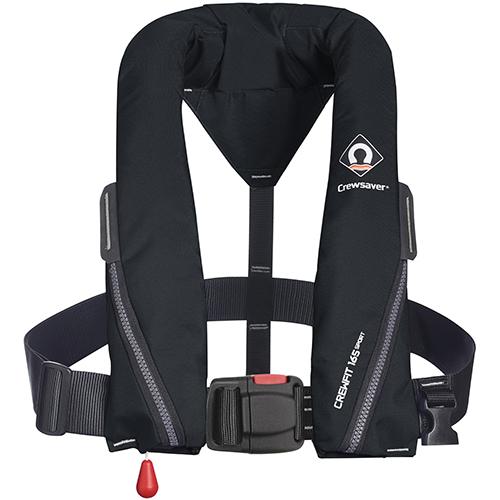 crewsaver crewfit sport 165n black non harness