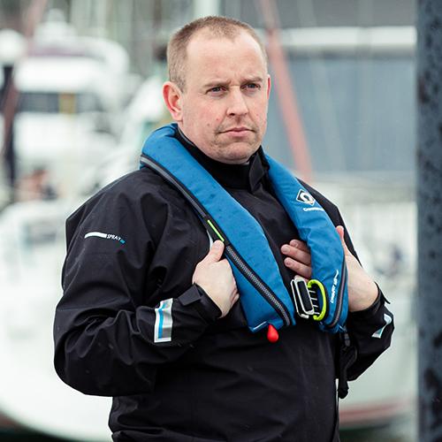 crewsaver crewfit sport 165n blue action