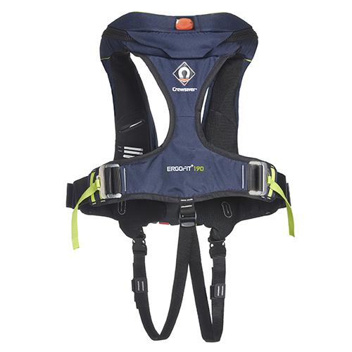 crewsaver ergofit+ 190n lifejacket rear