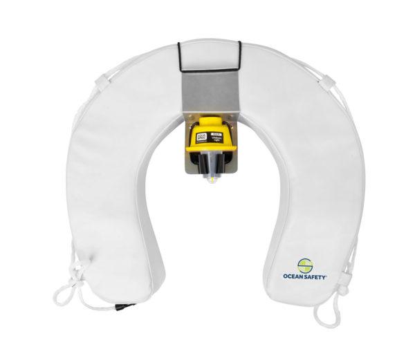ocean safety horseshoe buoy set white