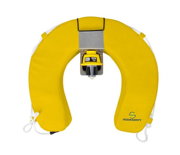 ocean safety horseshoe buoy set yellow